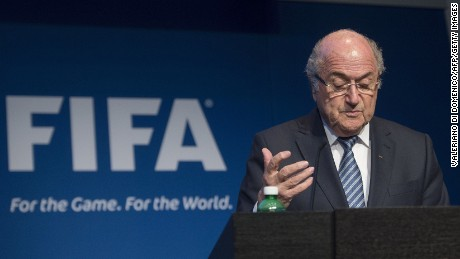 FIFA President Sepp Blatter speaks during a press conference at the headquarters of the world's football governing body in Zurich on June 2, 2015