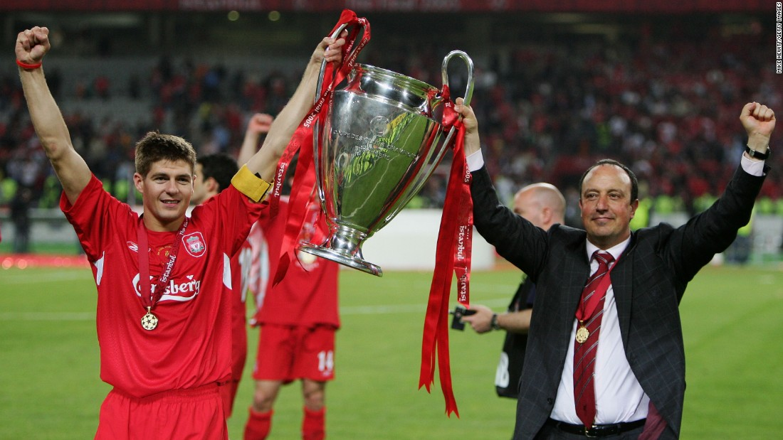 The Spaniard's finest hour came at Liverpool, where he won the Champions League in Istanbul. His side came from 3-0 down at half-time to eventually beat AC Milan on penalties.