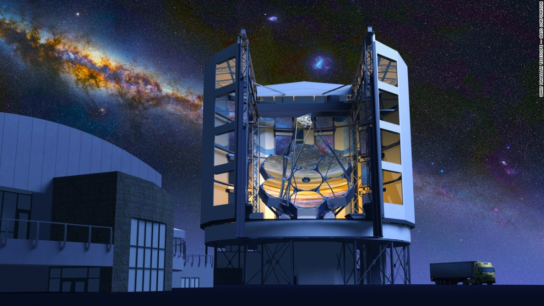 Astronomers hope to use the giant telescope to search for habitable planets, as well as to explore mysteries surrounding dark matter and dark energy.