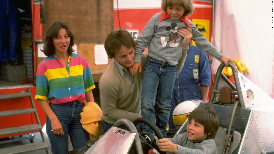 Jacques was born to race. His father is Ferrari driver Gilles Villeneuve, seen here putting his son at the controls of his car during a family visit to the F1 paddock in the 1979 season.