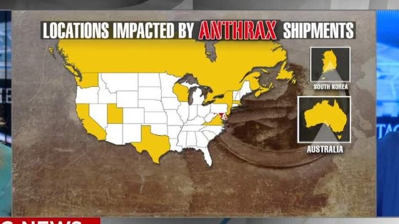 Questionable anthrax sent to 51 labs