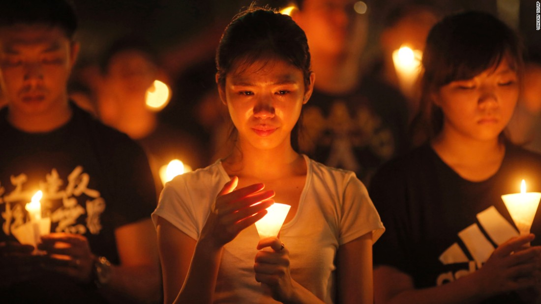 Following last year's Occupy demonstrations, some protesters opted not to attend this year's June 4 vigil, saying the event would distract from their immediate struggle for democracy in Hong Kong.