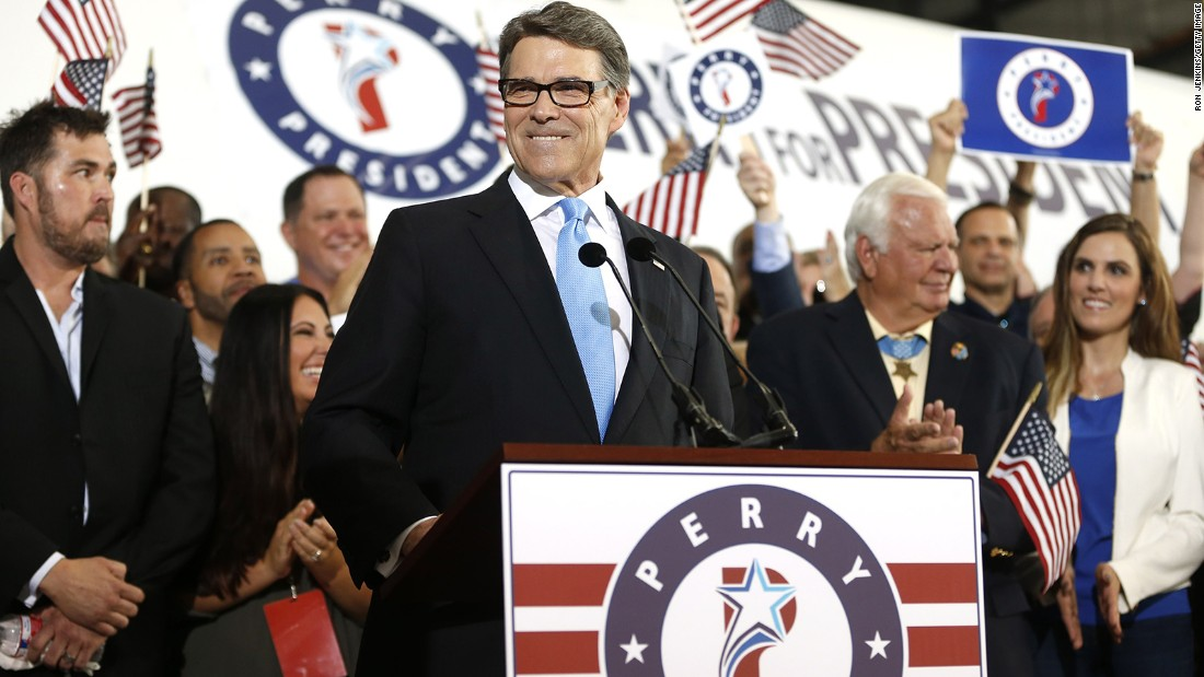 Former Gov. Rick Perry, R-Texas, who has dropped out of the presidential race.