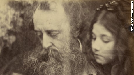 Whisper of the Muse / Portrait of G.F. Watts; Julia Margaret Cameron (British, born India, 1815 - 1879); Freshwater, Isle of Wight, England; April 1865; Albumen silver print; 26 x 21.4 cm (10 1/4 x 8 7/16 in.); 84.XZ.186.96