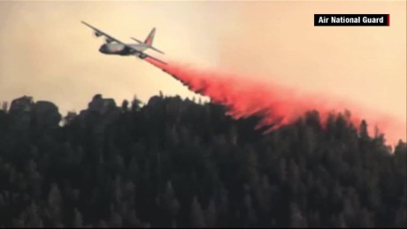Military planes on firefighting duty