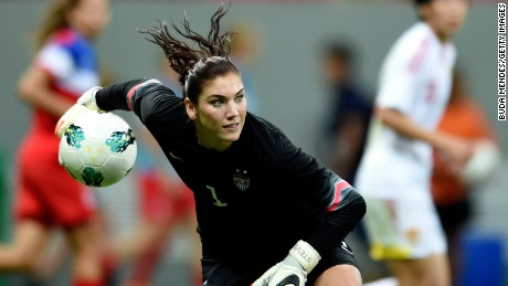 Goalkeeper Hope Solo