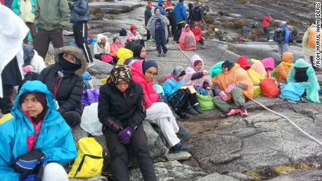 Climbers were stranded on the peak of Mount Kinabalu after the earthquake hit.
