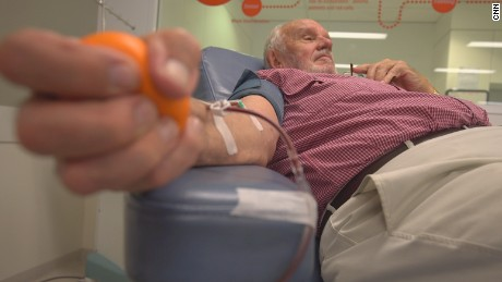 He donated blood every week for 60 years and saved the lives of 2.4 million babies