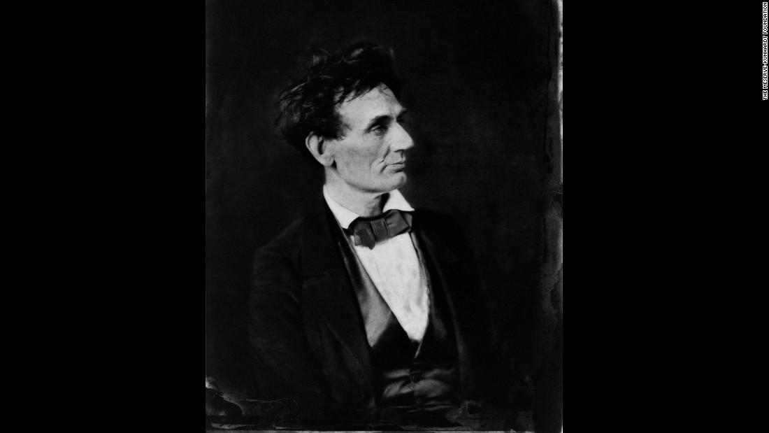 "Alexander Hesler took this photograph of Lincoln in Chicago on February 28, 1857. The politician called this a ""very true"" portrait, ""though my wife, and many others, do not (agree). My impression is that their objection arises from the disordered condition of the hair."" For five generations, the Meserve-Kunhardt family has doggedly collected and protected some of the most valuable and rare Lincoln photographs and memorabilia. It all started when Frederick H. Meserve got the collecting bug when trying to find suitable images for the diary of his father, a Union soldier who met Lincoln at the Antietam battlefield in 1862."
