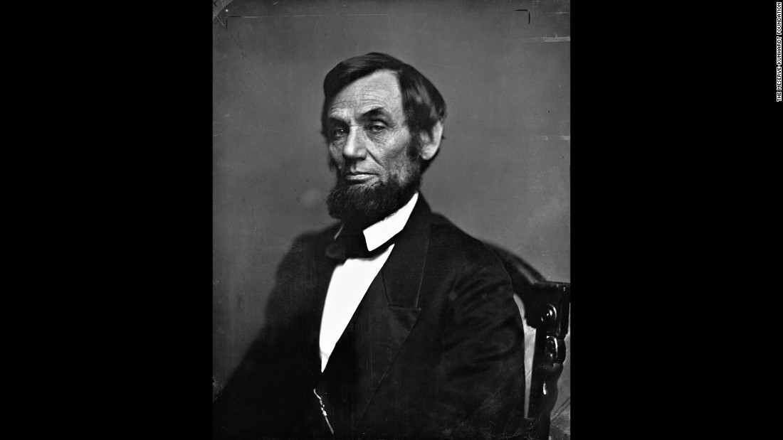 "Lincoln in Washington, months after he decided to grow a beard and soon after the Civil War began in 1861. Frederick H. Meserve ""understood the value in keeping his images away from any type of light,"" said his great-great-grandson Peter. Many were kept in closets and boxes. ""Some prints have never seen the light of day."""