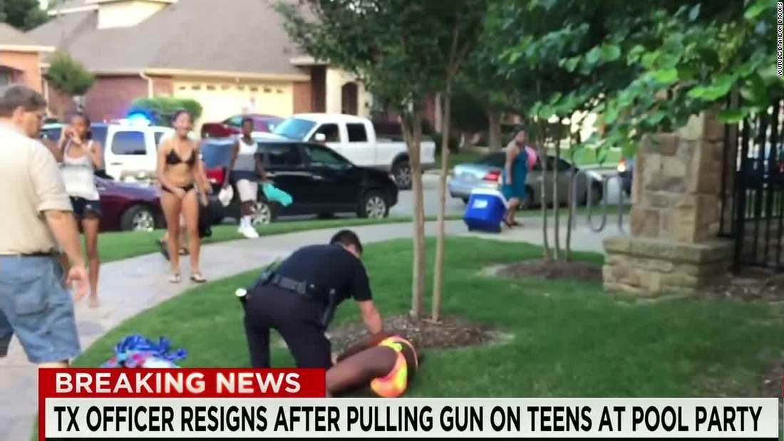 Texas pool party chaos: 'Out of control' police officer resigns
