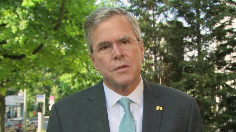 Jeb Bush in Germany, met with Chancellor Merkel