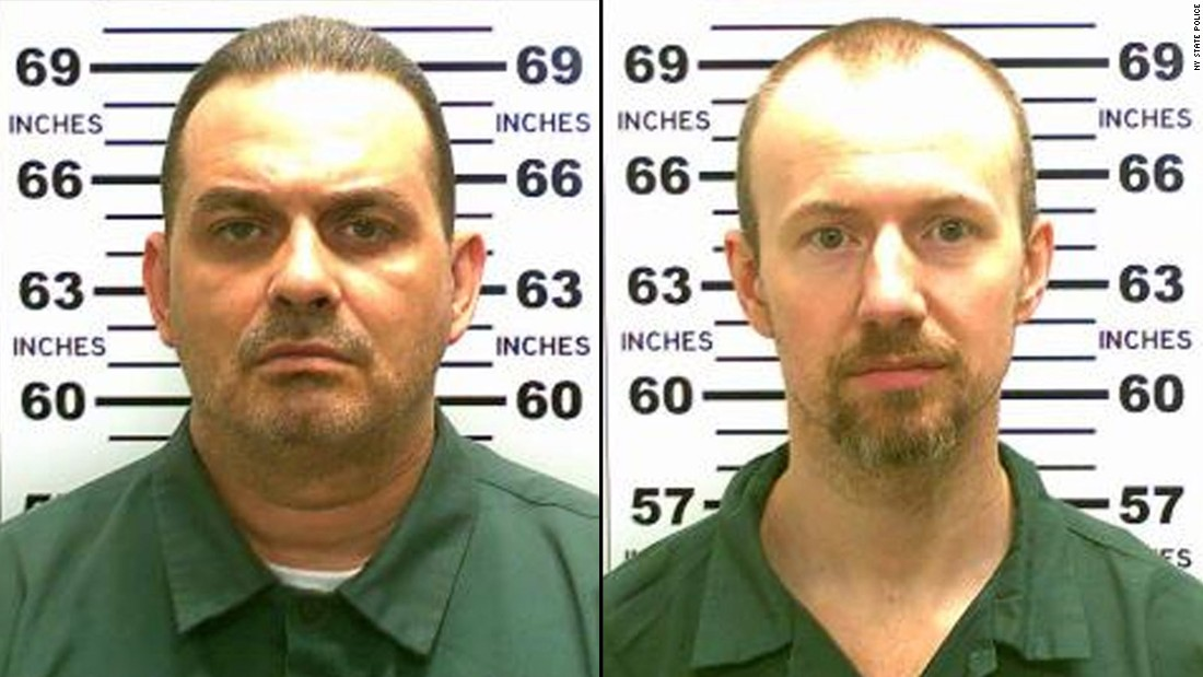 "Richard Matt, left, and David Sweat were discovered missing on Saturday, June 6, at the 5:30 a.m. ""standing count"" of inmates at the Clinton Correctional Facility in Dannemora, New York."