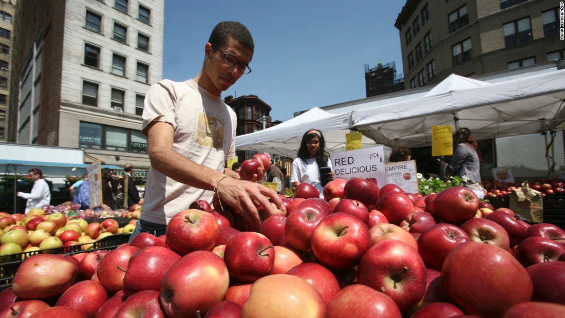 Union Square Green Market in New York