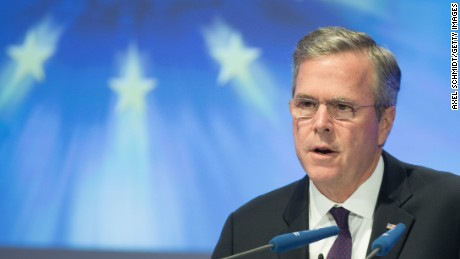 Former Florida Governor and possible Republican presidential candidate Jeb Bush speaks at the CDU Economics Conference of the Economic Council on June 09, 2015 in Berlin, Germany.