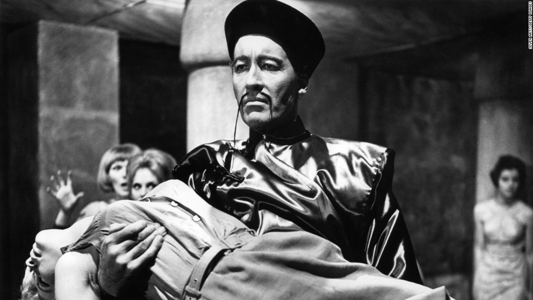 "Lee stars in 1966's ""The Brides of Fu Manchu."""