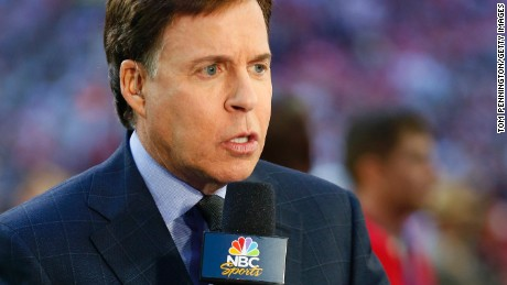 GLENDALE, AZ - FEBRUARY 01: Bob Costas is seen on the field prior to Super Bowl XLVIII at University of Phoenix Stadium on February 1, 2015 in Glendale, Arizona. (Photo by Tom Pennington/Getty Images)