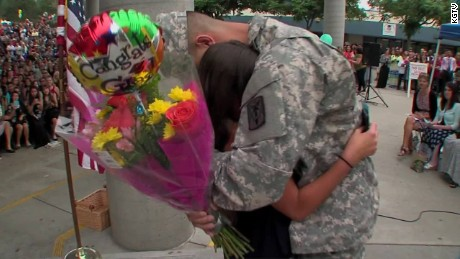 soldier surprises sister at middle school graduation pkg_00011909