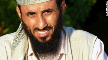 Al-Qaeda in the Arabian Peninsula (AQAP) chief Nasser al-Wuhayshi is pictured in the militant stronghold town of Jaar, in the southern Abyan province, on April 28, 2012. Al-Qaeda freed on April 29 dozens of soldiers  captured in battles in southern Yemen, as three suspected militants were killed in an air strike in the north of the country, local and security sources said. AFP PHOTO/STR        (Photo credit should read -/AFP/GettyImages)