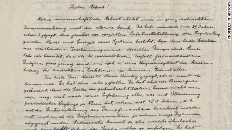 Einstein letters fetch more than $420,000 at auction - CNN