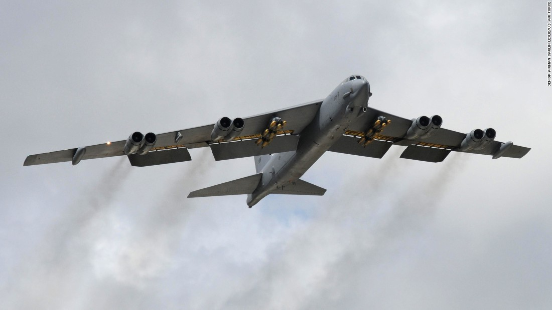 Air Force B-52 Stratofortress bombers have been participating in exercises near the Baltics.
