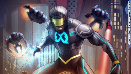 "Cover art for ""E.X.O.: The Legend of Wale Williams"" created by Nigerian web developer, Roye Okupe."