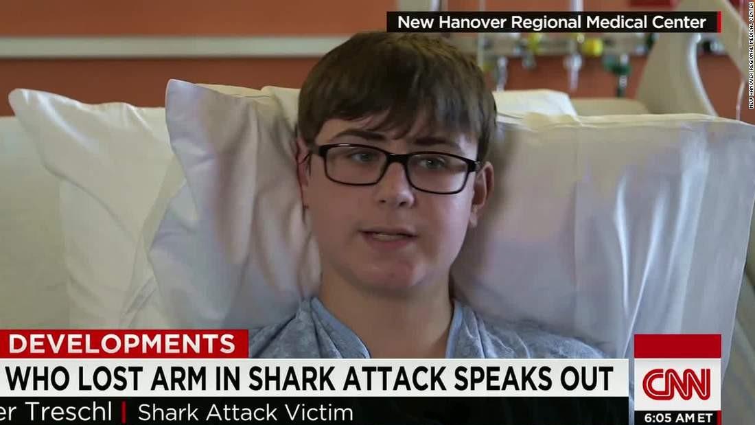 North Carolina shark attack victim: 'I didn't see it coming'