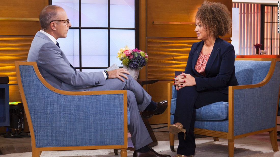 "Matt Lauer interviews Dolezal on the ""Today"" show on Tuesday, June 16. Dolezal revealed that <a href=""http://www.cnn.com/2015/06/16/us/washington-rachel-dolezal-naacp/"" target=""_blank"">she started identifying as black</a> around age 5, when she would draw self-portraits with a brown crayon. She told Lauer she ""takes exception"" to the contention that she tried to deceive people."