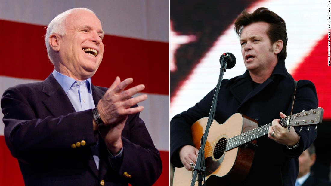 "John Mellencamp asked the McCain campaign to not use his songs ""Our Country"" and ""Pink Houses"" while campaigning."