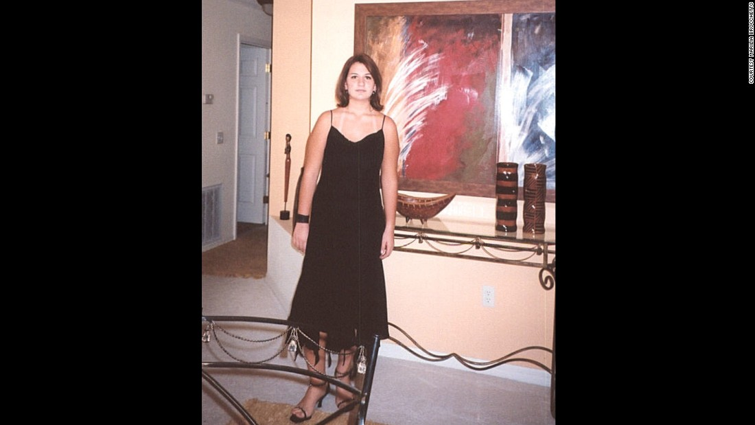 "Marilia Brocchetto shares her journey in her own words: ""High school sophomore year (2004 I think), this is me right after one of my last successful crash diets. I am the thinnest I can remember in this picture."""