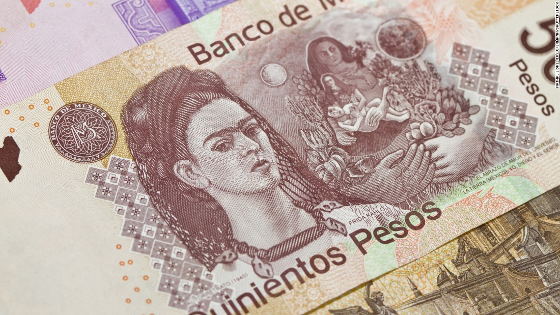 Though the U.S. has tended to stick with politicians and statesmen, other countries have been more willing to feature artists, writers and other kinds of civic leaders on their currencies. In Mexico, the 500-peso note features painter Frida Kahlo on the reverse and her husband, Diego Rivera, on the obverse.