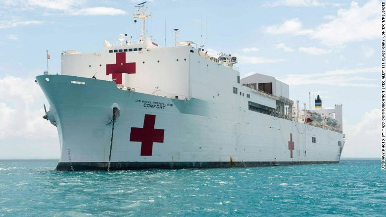 caribbean sea april 10 military sealift command msc hospital ship