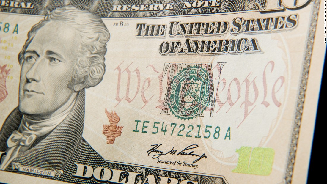 This one takes a bit of dedication because it can be unwieldy -- you'll need a long piece of cardboard or stiff paper to decorate like a $10 bill. Cut a hole in the middle for your face and you can be the highly anticipated woman who replaces Alexander Hamilton on the tenner.