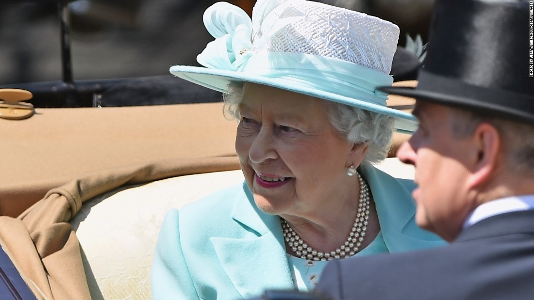 Bookmakers at Royal Ascot take bets on what color hat the Queen will wear on each day of the five-day meeting. Queen Elizabeth II chose a light shade of green for Ladies' Day.