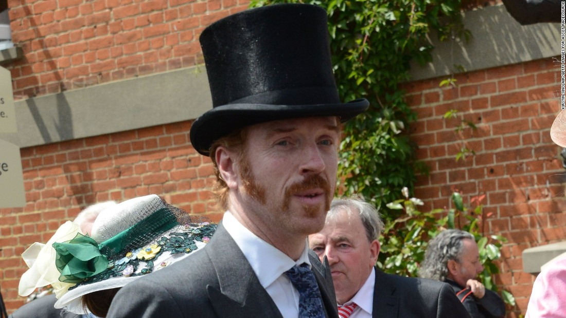 Hollywood actor Damian Lewis adopted the gentlemen's dress code of top hat and tails as he paid a visit to Royal Ascot in 2015.
