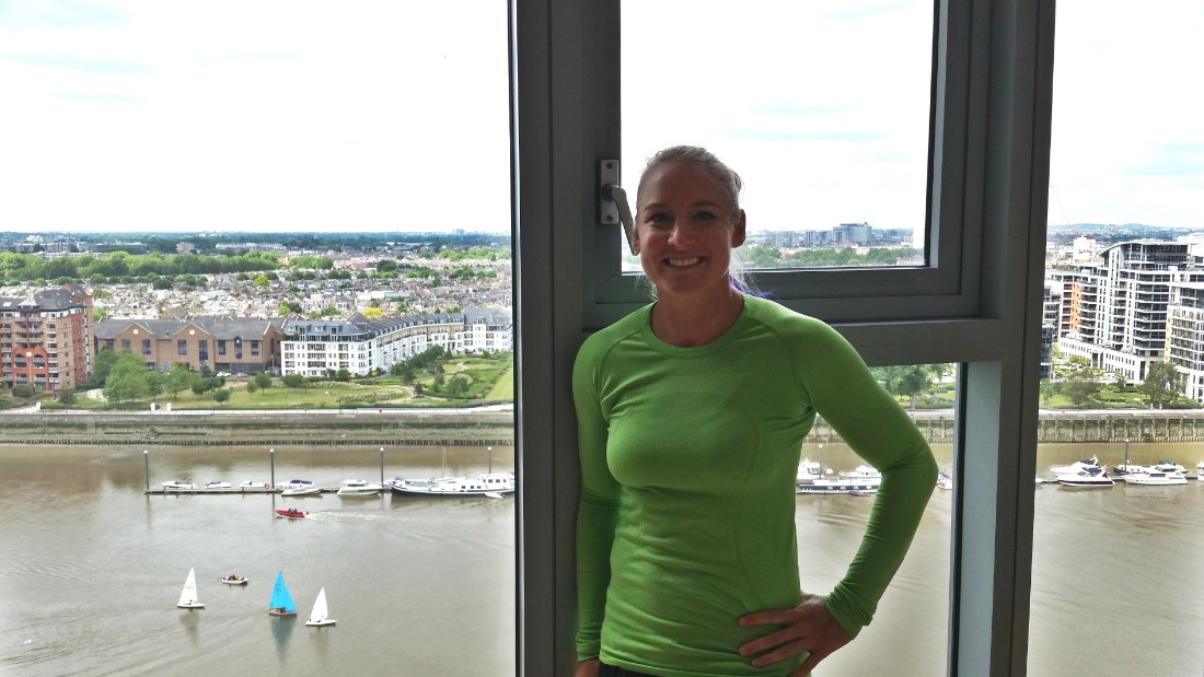 Mattek-Sands enjoys a striking view from her Wimbledon accommodation, a serviced  Battersea apartment. The 30-year-old -- who won the women's doubles and mixed-doubles titles at the 2015 French Open -- has spent just two weeks in her Arizona home so far this year.