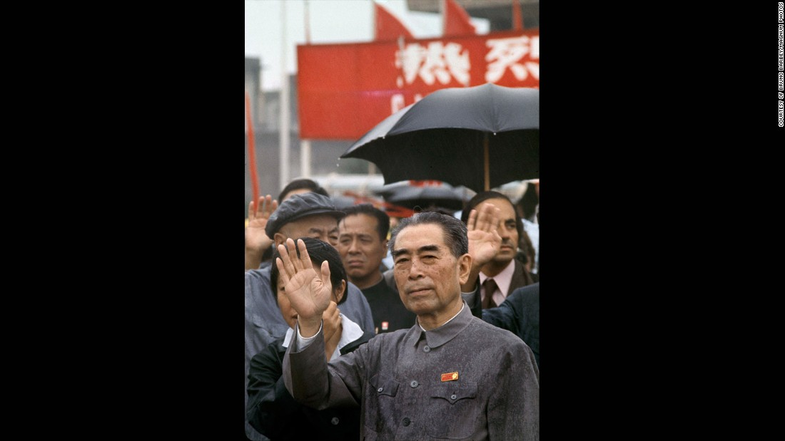 "A vivid highlight of the trip was meeting Chinese premier Zhou Enlai, Mao's right-hand man and chief diplomat. ""He spoke a little French,"" recalled Barbey."