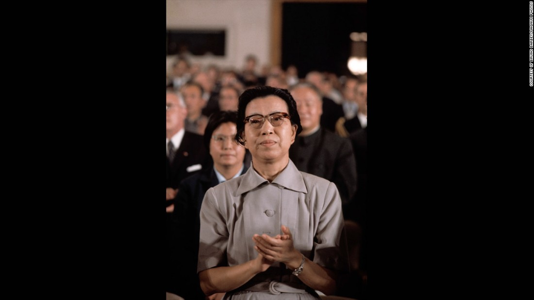 "This was Mao's wife, Jiang Qing. ""At the time she was the only woman dressed in a Western style, that she herself designed,"" explained Barbey. ""Anyone else could not do such a thing."""