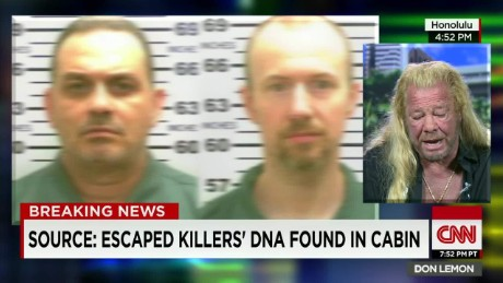 dog bounty hunter prison escape convicts david sweat richard matt don lemon cnntonight_00040429