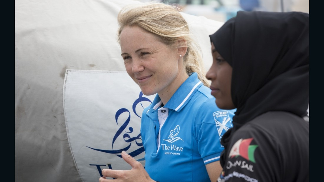 Now back in top competition, Ayton is using her position to help spread the popularity of sailing among women in Oman.
