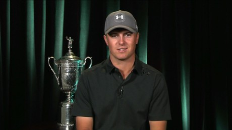 Spieth shows off 2 big prizes