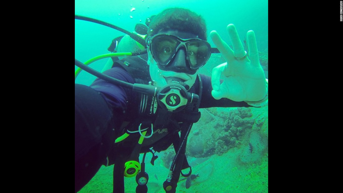 """Upping my selfie game,"" said actor Jason Biggs in this underwater photo <a href=""https://instagram.com/p/4PGf46OKCK/"" target=""_blank"">he posted from the island country of Bonaire</a> on Monday, June 22."