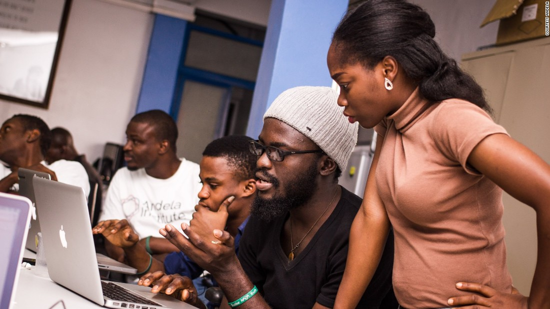 Students are paid what the company calls a Nigerian upper middle class wage while they are training, but they first have to go through a four-stage grueling selection process.