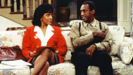 """Phylicia Rashad with Bill Cosby in """"The Cosby Show."""""""