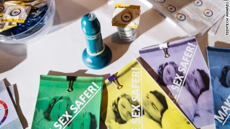 The S.T.EYE -- condoms that change color when they come in contact with STIs.