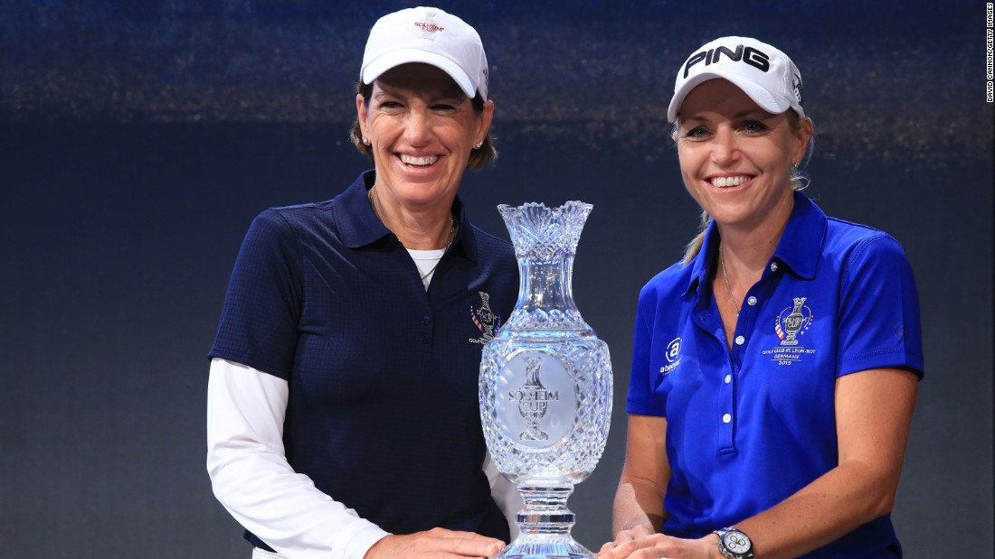 This year, the 44-year-old (right) will be pitting her wits against U.S. captain Juli Inkster (left) at the St. Leon course in Baden Wurttemberg, Germany, from September 18-20.