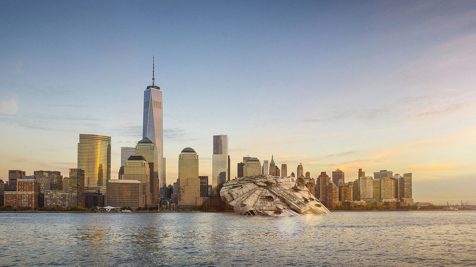why has the millennium falcon crashed in manhattan cnn travel