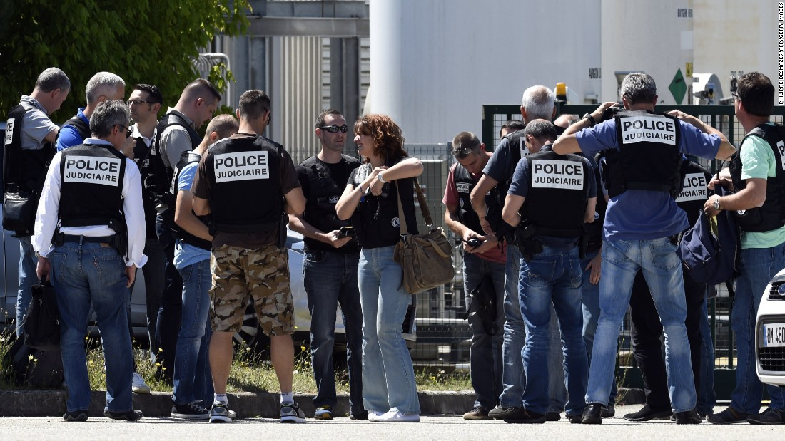 Suspect detained after beheading, explosion in France