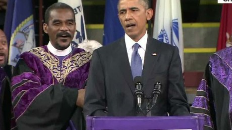 obama sings amazing grace during pinckney eulogy sot nr _00004005