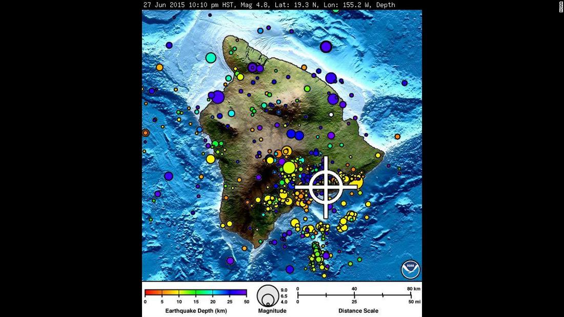 Earthquake hits city of Volcano in Hawaii